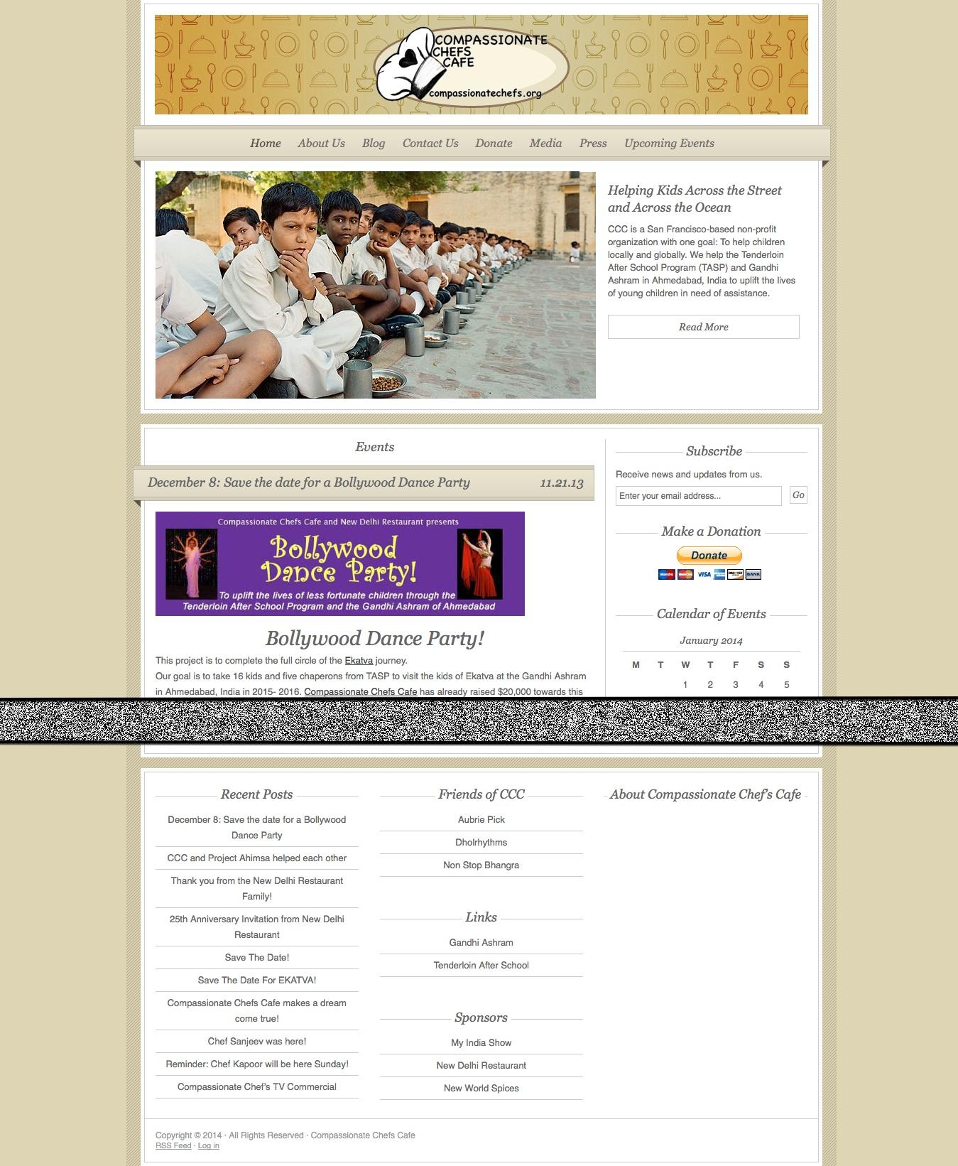 Compassionate Chefs Cafe site portfolio