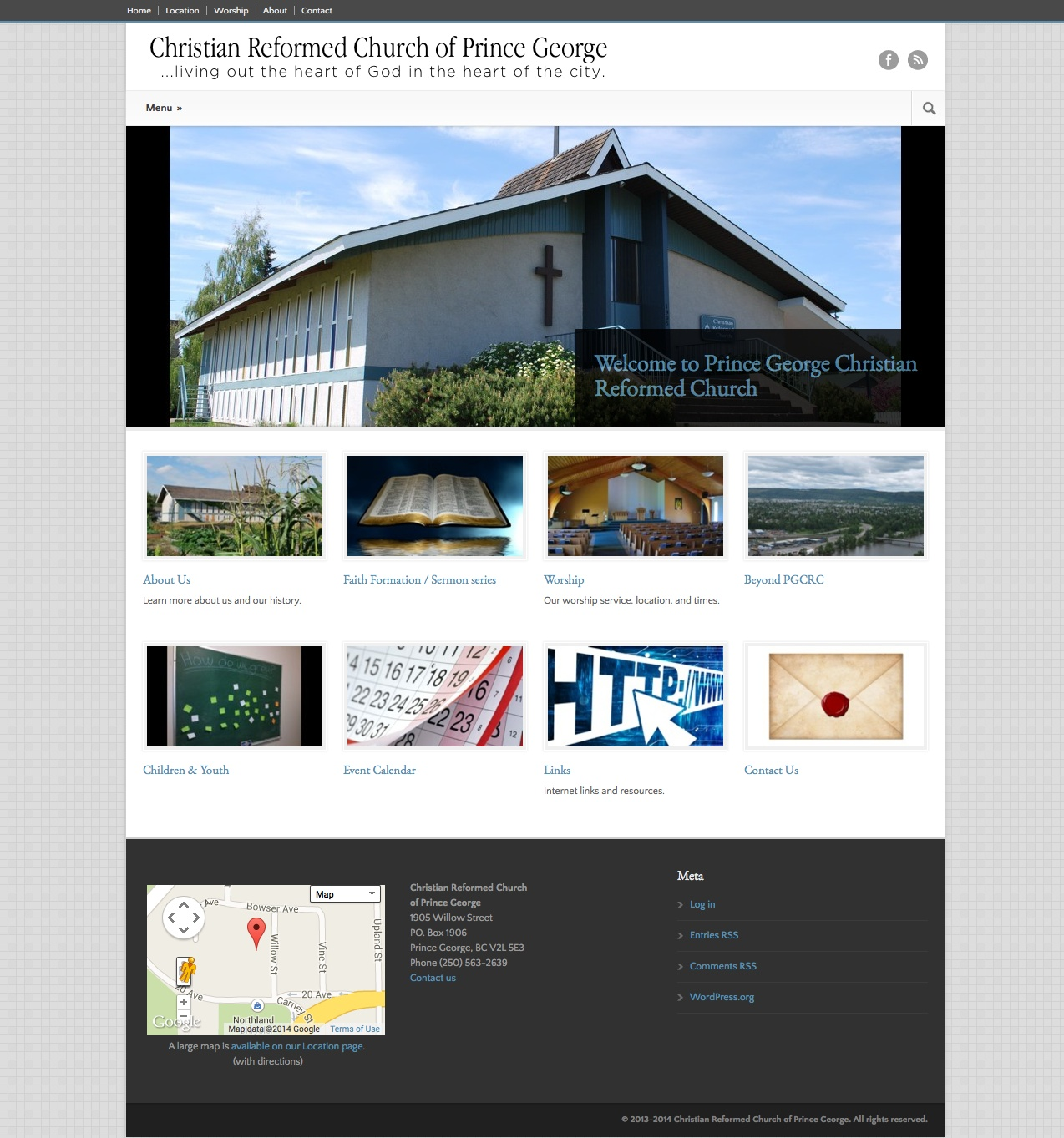 Christian Reformed Church of Prince George site portfolio