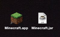 Icon comparison of Minecraft .app vs .jar